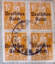 Bavarian stamps during the German empire period