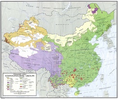 Ethnolinguistic map of China