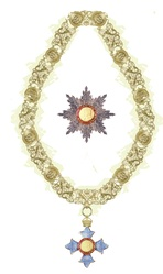 Collar and star of a Knight or Dame Grand Cross of the Order of the British Empire
