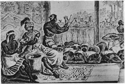 The court of N'Gangue M'voumbe Niambi, from the book Description of Africa (1668)