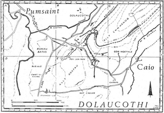 Map of the gold mine at Dolaucothi, showing its aqueducts