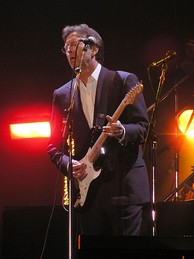 Clapton performing for Tsunami Relief Cardiff at the Millennium Stadium in Cardiff, Wales on 22 January 2005