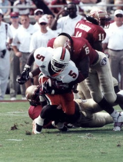 Miami and Florida State met as top ten opponents in seven consecutive games from 1987–1993.