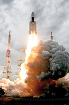 GSLV Mk III M1 lifting off