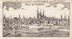 Halle, copper engraving, 1686