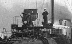 As first mounted on 27-knot destroyers from 1894, here seen on HMS Daring