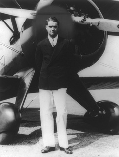 Howard Hughes with his Boeing 100 in the 1940s