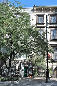 Montgomery Clift's former townhouse where he died (with green painted front door), located at 217 East 61st Street, Manhattan, New York City[22]