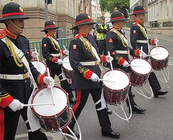 The Band of the Island of Jersey play at many events[100]