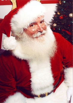 Santa Claus portrayed by children's television producer Jonathan Meath, 2010