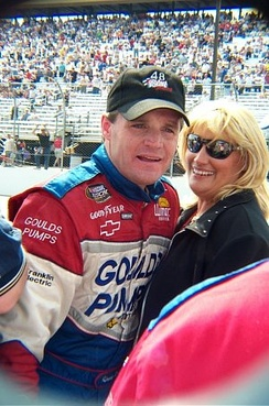 Wallace and his wife Kim in 2001