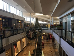 The King of Prussia mall in King of Prussia, Pennsylvania decorated during the Christmas season
