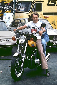 Lauda at the Nürburgring in 1973, three years before his accident.