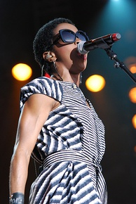 Hip hop artist Lauryn Hill has been successful as a solo performer and as a member of the Fugees. This photo shows her performing at the Ottawa Bluesfest in 2012.