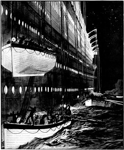 The lifeboats of RMS Titanic, which proved inadequate in the face of disaster.