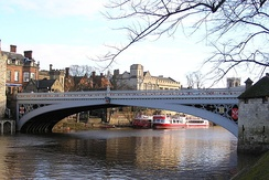 Lendal Bridge from the South Bank, looking downstream