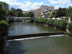 Litheos river flowing through city of Trikala.