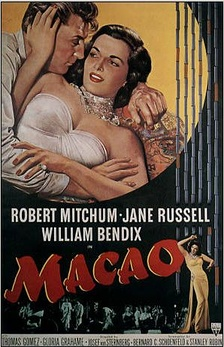 Robert Mitchum, RKO's most prolific lead of the late 1940s and early 1950s,[99] costarred in Macao (1952) with Jane Russell, who was personally contracted to Howard Hughes.[150] Director Josef von Sternberg's work was combined with scenes shot by Nicholas Ray and Mel Ferrer.[151]