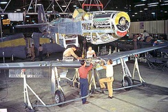 P-51D on the Inglewood assembly line