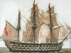 Navio or ship-of-the-line, Santa Ana, 1784-1814