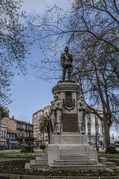 Monument to Pedro Menéndez in Avilés, Spain