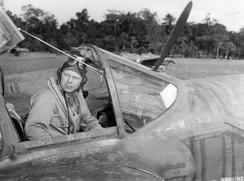 Major Richard Bong in his P-38.