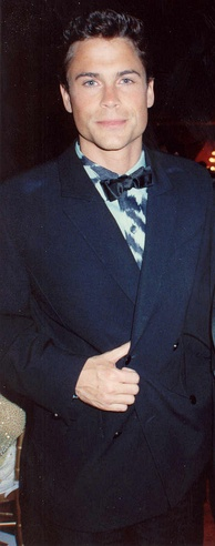 Lowe at the Governor's Ball party after the 1989 Academy Awards