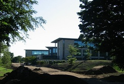 The new headquarters nearing completion in 2005