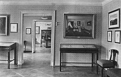 Interior of museum at Schubert's birthplace, Vienna, 1914