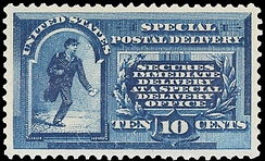 First Special Delivery stamp, 1885