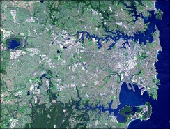 Sydney lies on a submergent coastline where the ocean level has risen to flood deep rias.