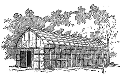 Traditional Iroquois longhouse