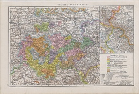 Map of Thuringian States 1890