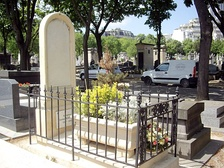 Tomb of Aloysius Bertrand at the cemetery of Montparnasse in Paris, section 10.