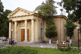 Cathedral dedicated to Saint Catherine (Russian: Свято-Екаерининский Собор) in Kherson the governorates seat at the time.