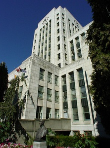 Vancouver City Hall in Vancouver, British Columbia, Canada (1935)
