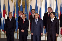 Photo session of participants in Russia - EU Summit