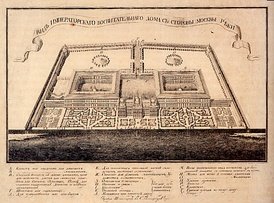 Betskoy's plan for the Foundling Home in Moscow.