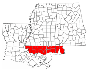 The Baton Rouge and Mobile Districts of Spanish West Florida, claimed by the United States, spanned parts of three later states. The Spanish province also included part of the present-day state of Florida.