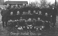 A team photograph of the Dayton Triangles, 1920