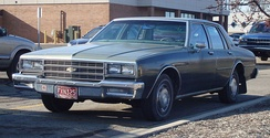 Downsized 1981-1985 Chevrolet Impala, 116 in (2,946 mm) wheelbase