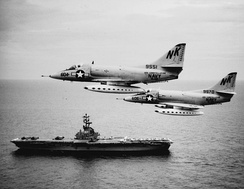 VA-146 A-4Cs from USS Constellation a week after Operation Pierce Arrow.