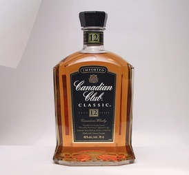 A bottle of Canadian Club, a Canadian whisky