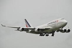 A retired Air France Boeing 747-400