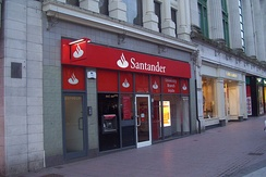 A branch of Santander in Cardiff, Wales