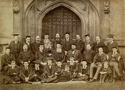The choir of Magdalen College ca. 1898