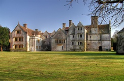 Athelhampton House - built 1493-1550, early in the period