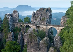 Saxon Switzerland a few kilometres outside of Dresden