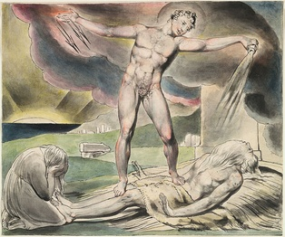 The Examination of Job (c. 1821) by William Blake