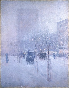 Late Afternoon, New York, Winter, c. 1900. Brooklyn Museum